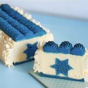 עוגת דגל ישראל - עוגת עיצוב חבוי
