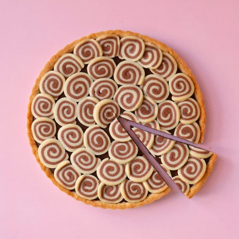 טארט שוקולד ספירלה